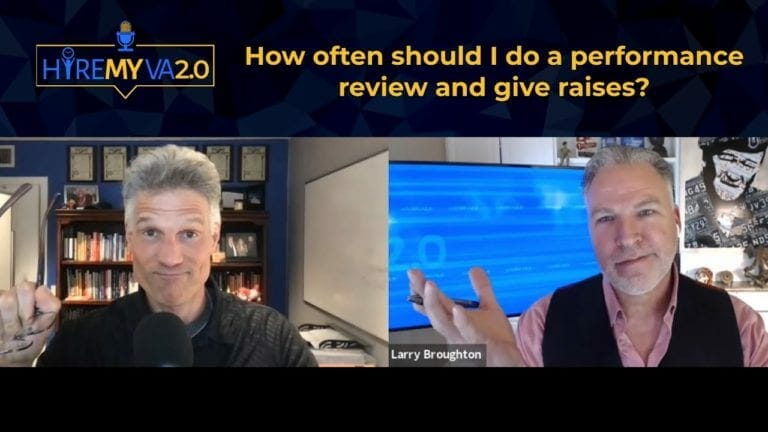 HireMyVA Podcast 50- How often should I do a performance review and give raises?